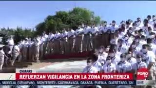 600 elementos federales vigilan la frontera de mexico con guatemala