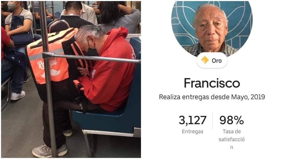 Abuelito repartidor de comida se hace viral en redes y esta es su historia