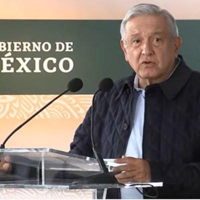 El presidente Andrés Manuel López Obrador (AMLO) en conferencia de prensa desde en Nuevo León