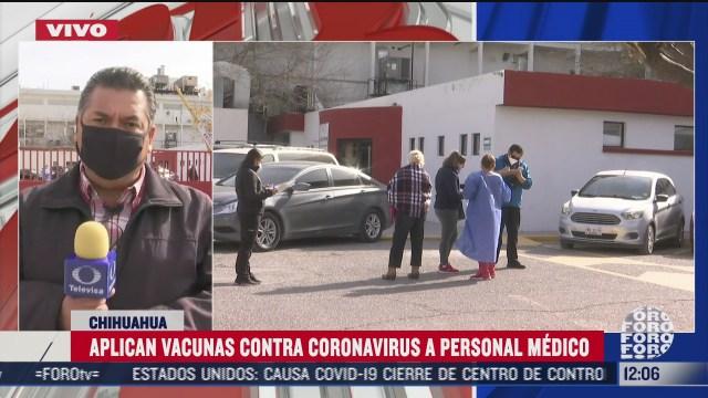 aplican vacunas covid 19 a personal de salud en chihuahua
