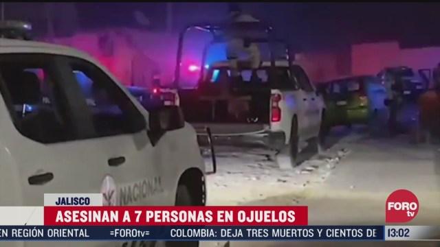 asesinan a 7 personas durante convivio en jalisco