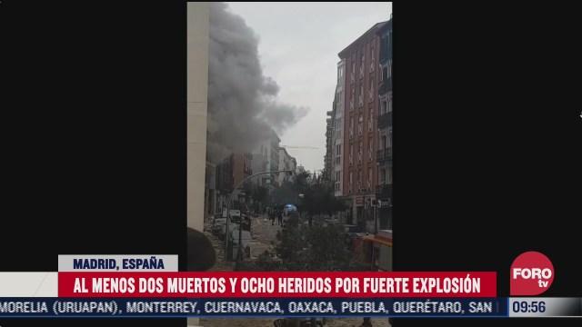 asi quedo la zona de explosion en madrid espana