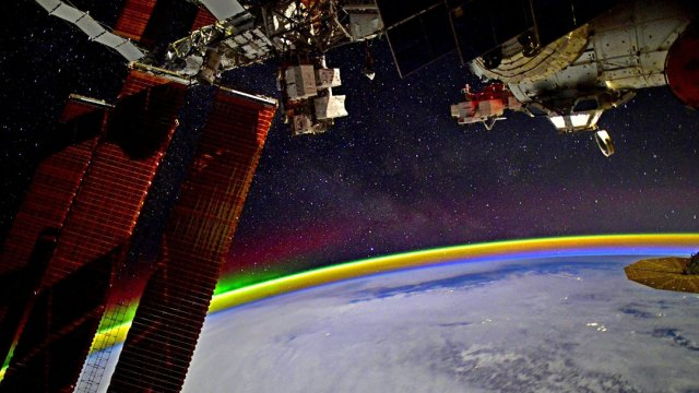 El cosmonauta ruso compartió la increíble imagen en su cuenta de Twitter