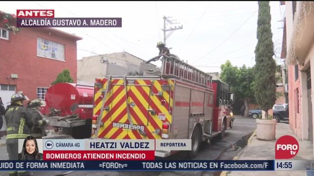 bomberos atienden incendio en vivienda de la alcaldia gustavo a madero