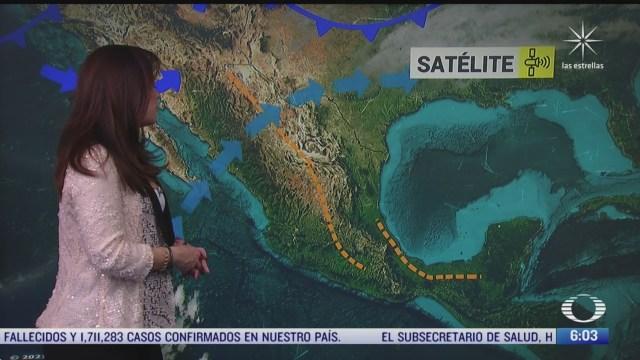 canal de baja presion provocara lluvias fuertes en el noroeste y norte de mexico