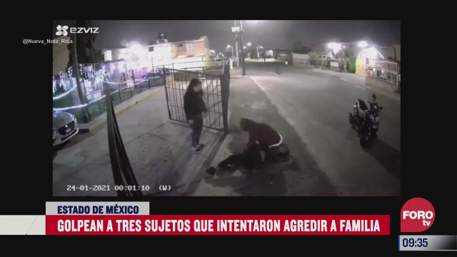 captan en video la agresion sujetos que intentaron amedrentar a una familia en coacalco
