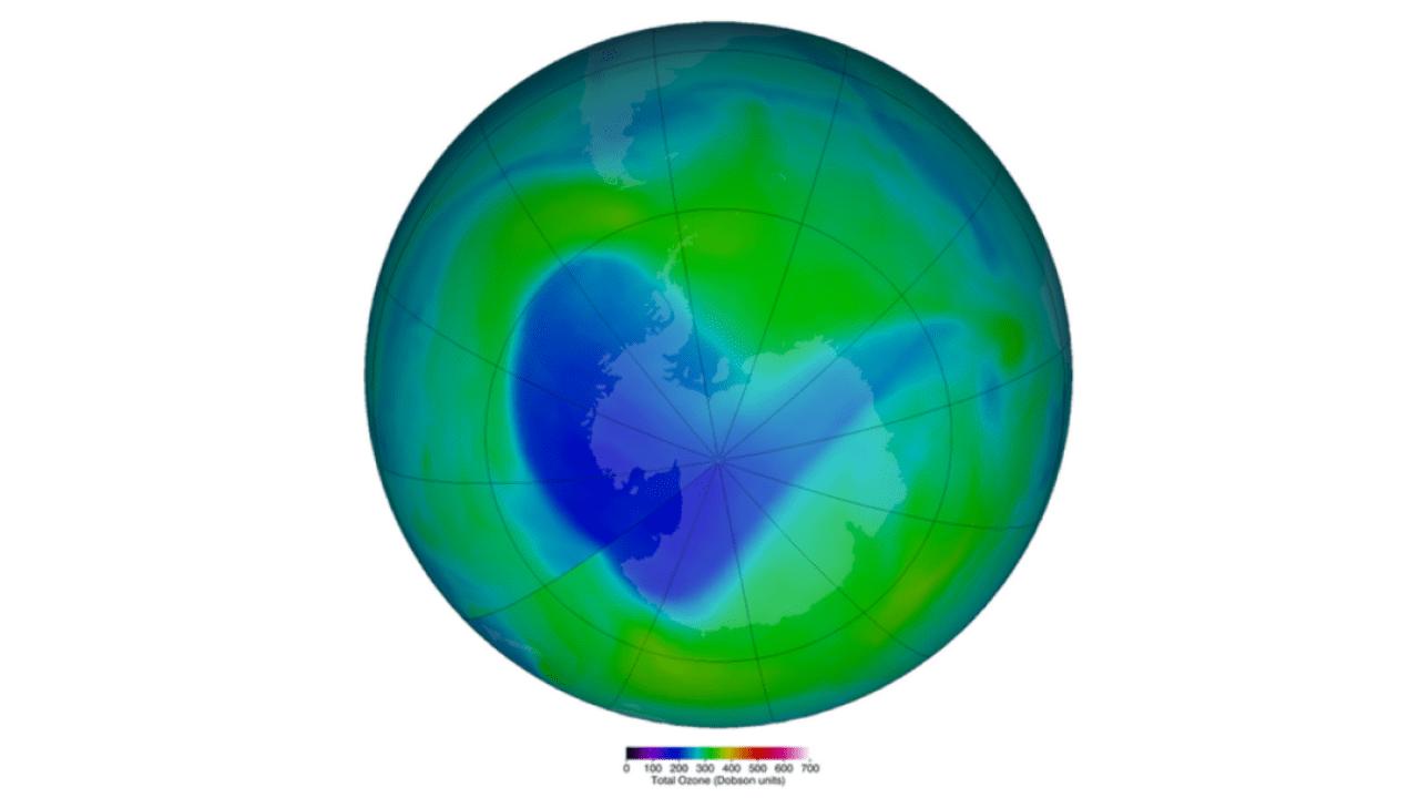 Agujero en capa de ozono sobre la Antártida se cierra. (NASA)