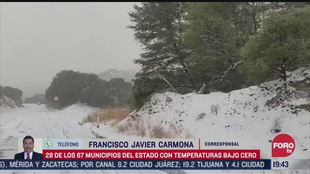 chihuahua continua con temperaturas bajo cero