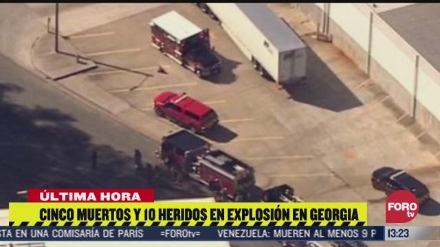 cinco muertos y diez heridas por fuga en planta quimica de atlanta eeuu