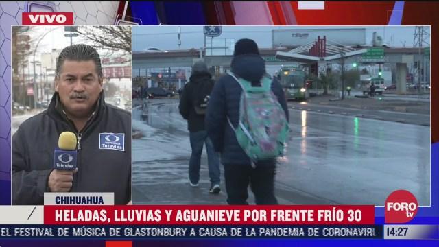 continuan lluvias y heladas en chihuahua
