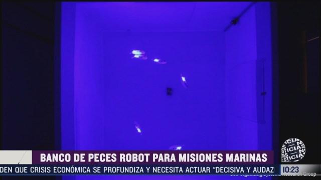 crean banco de peces robot para misiones marinas