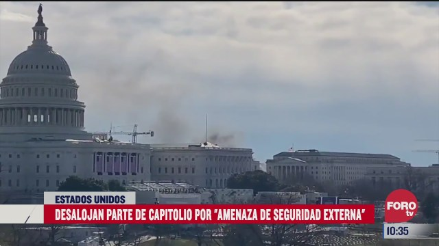desalojan capitolio por incendio en edificio cercano