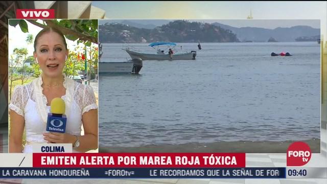 detectan marea roja toxica en manzanillo piden tomar precauciones