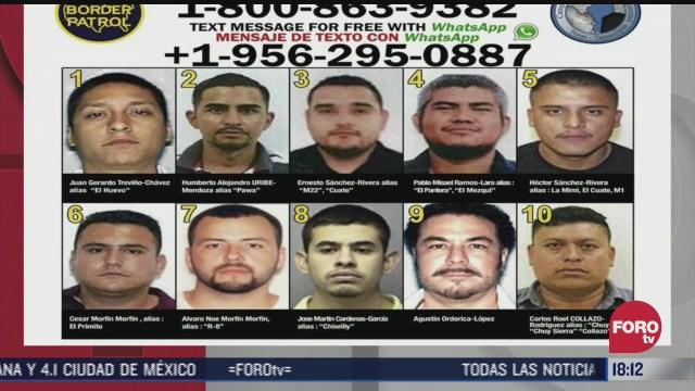 eeuu y tamaulipas presentan la lista de los 10 delincuentes mas buscados
