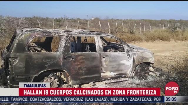 encuentran 19 cuerpos calcinados en zona fronteriza de mexico con eeuu
