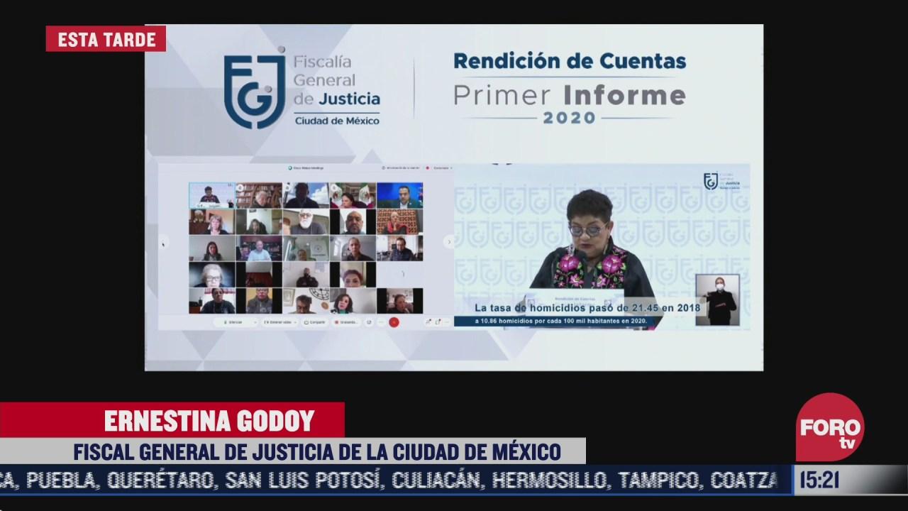 ernestina godoy rinde informe al frente de la fiscalia de la cdmx