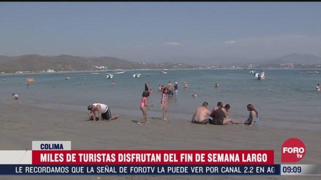 esperan llegada de turistas en manzanillo por primer fin de semana largo