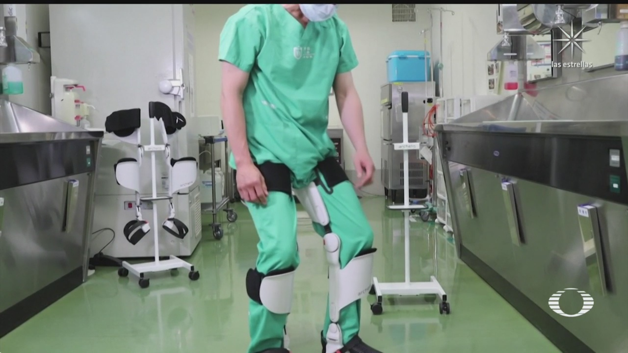 exoesqueleto ayuda a personas que pasan mucho tiempo de pie