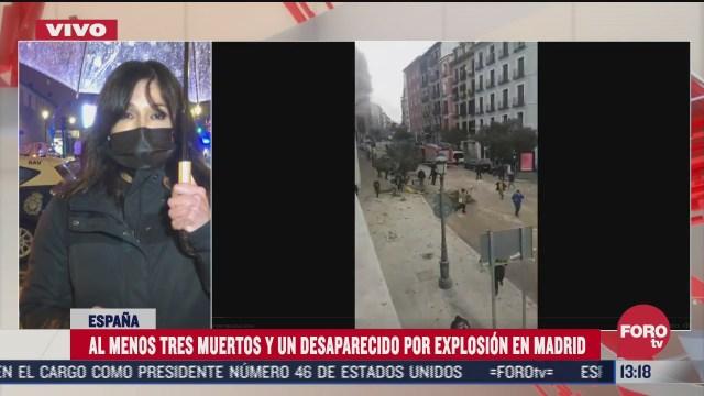 explosion en madrid deja al menos 3 muertos y un desaparecido