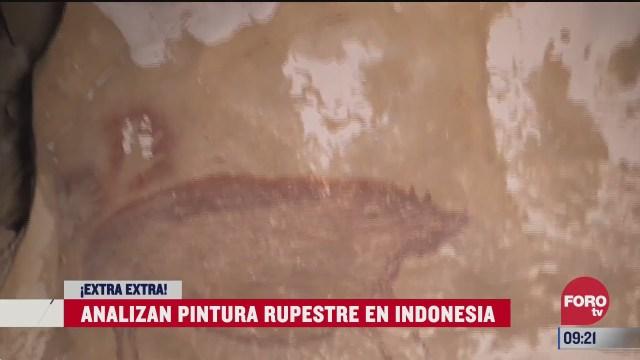 extra extra analizan pintura rupestre en indonesia