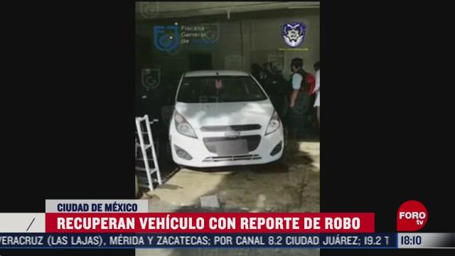 fiscalia de cdmx recupera auto robado tras cateo