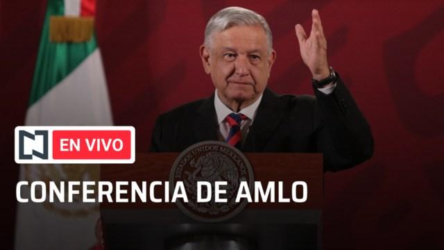 Conferencia en vivo Andrés Manuel López Obrador. (Noticieros Televisa)