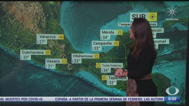 frente frio 32 provocara lluvias fuertes en el oriente y sureste de mexico