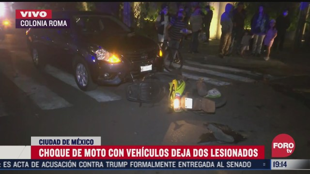 fuerte accidente vial en la colonia roma deja dos lesionados