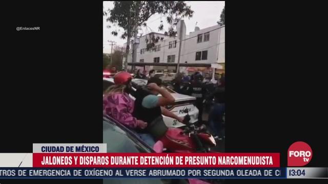 graban detencion de narcomenudistas en la colonia morelos cdmx