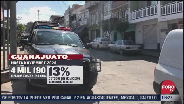 guanajuato vive unos de los inicios de ano mas violentos