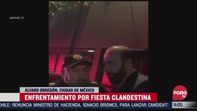 hombre agrede a vecina en cdmx tras realizar fiesta y lo bautizan