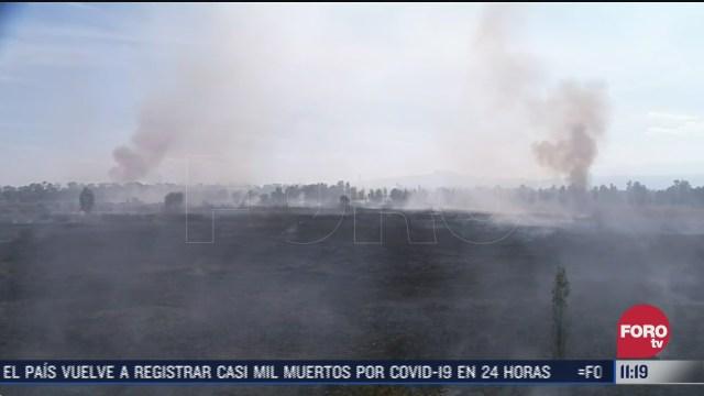incendio en pastizales de cuemanco cdmx