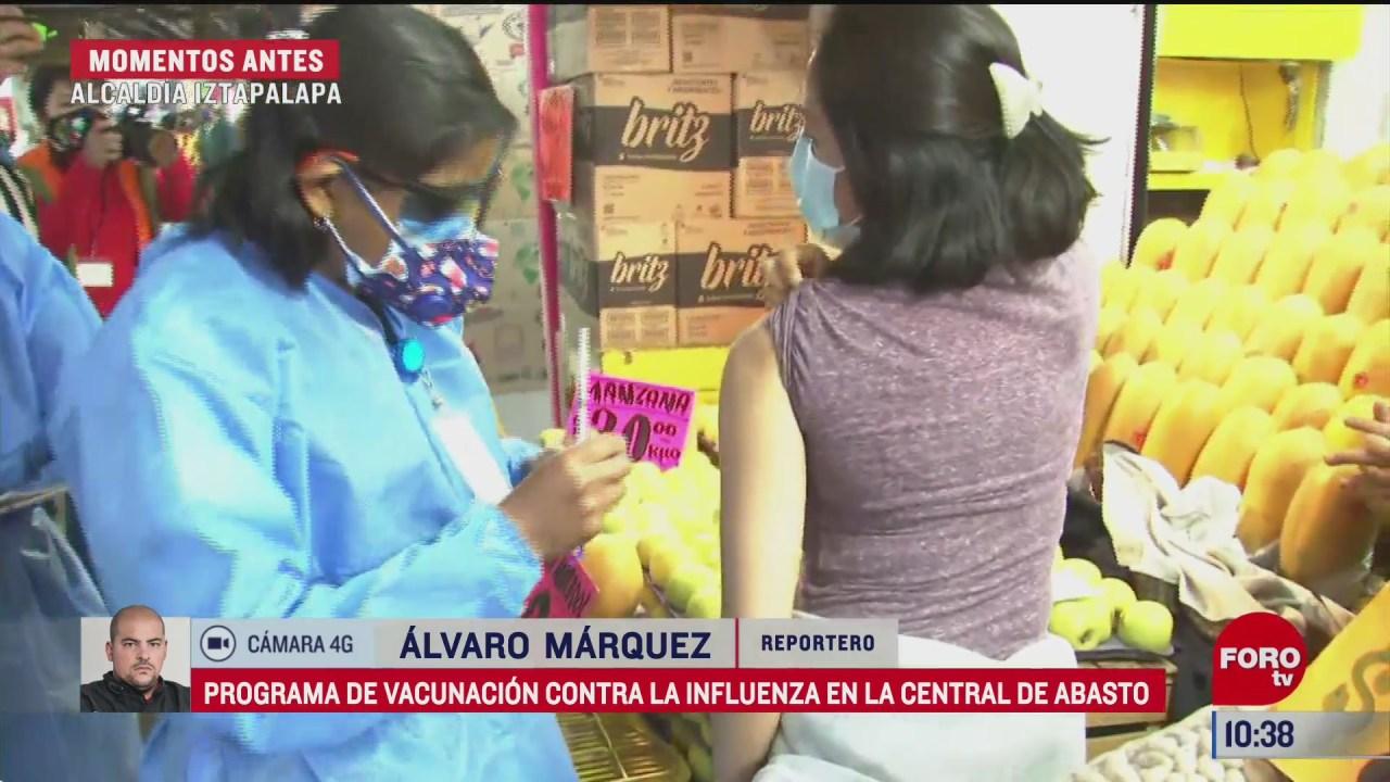 inicia programa de vacunacion contra influenza en central de abasto cdmx