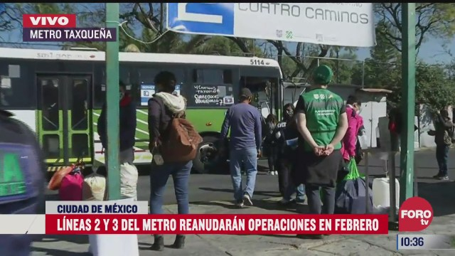 lineas 2 y 3 del metro cdmx reanudaran en febrero