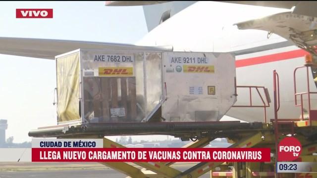 llega nuevo cargamento de vacunas contra covid 19 al aicm