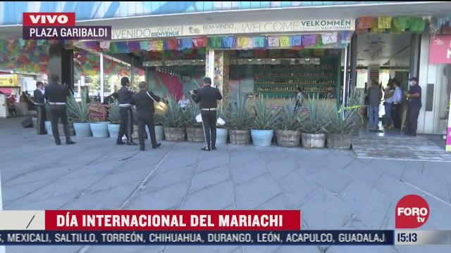 mariachis ofertan su musica en plaza garibaldi tras festejo del dia internacional del mariachi