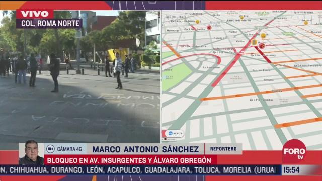 metrobus sin servicio por bloqueos en avenida de los insurgentes