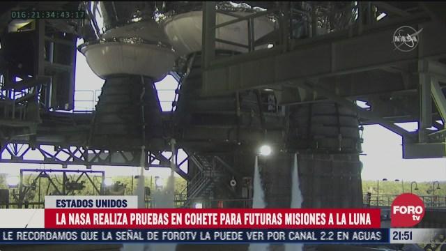 nasa prueba cohete para nueva mision a la luna