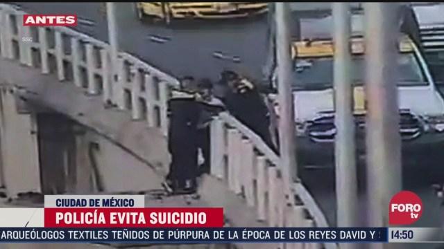 policia de transito evita suicidio en cdmx