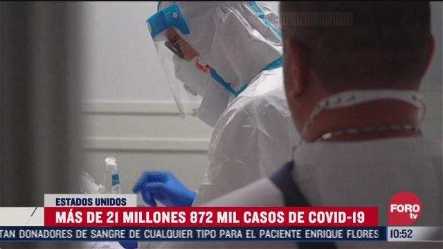 se elevan mas de 21 millones de nuevos casos covid 19 en ee uu