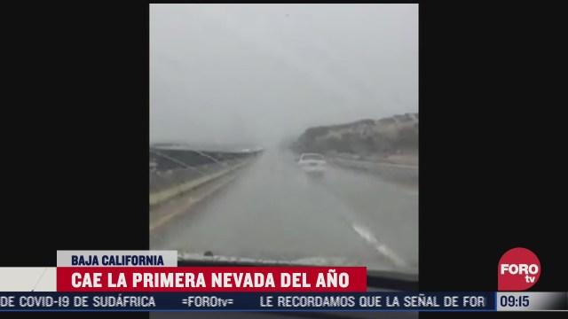 se registra la primera nevada del ano en baja california