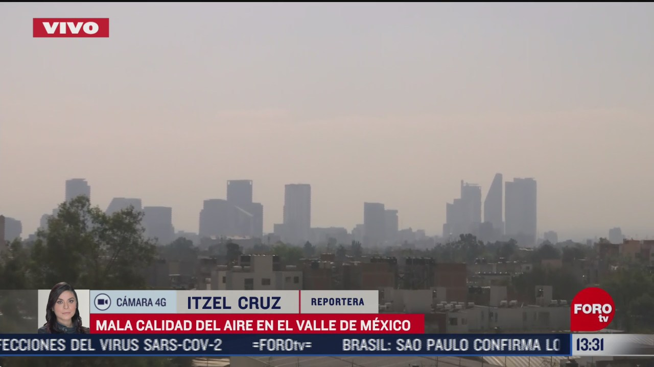 se registra muy mala calidad del aire en el valle de mexico