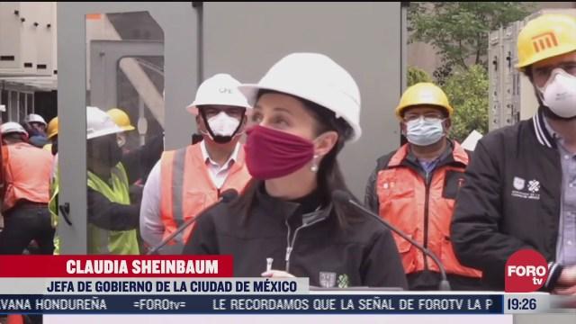 sheinbaum supervisa avance de obras del metro