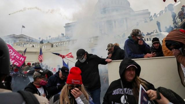 Toma violenta del Capitolio para mostrar apoyo a Donald Trump (Reuters)
