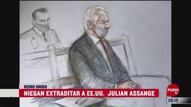 tribunal britanico niega extraditar a julian assange a ee uu