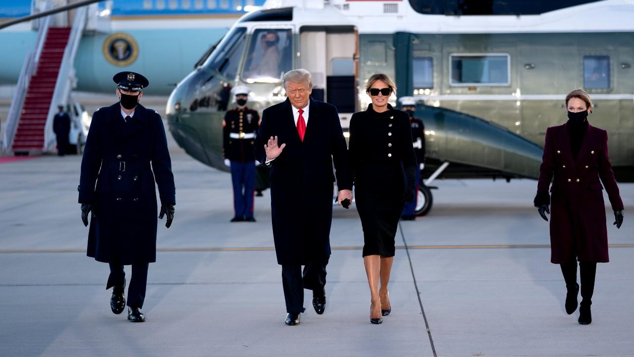 Trump deja la Casa Blanca tras inicio de gobierno de Trump