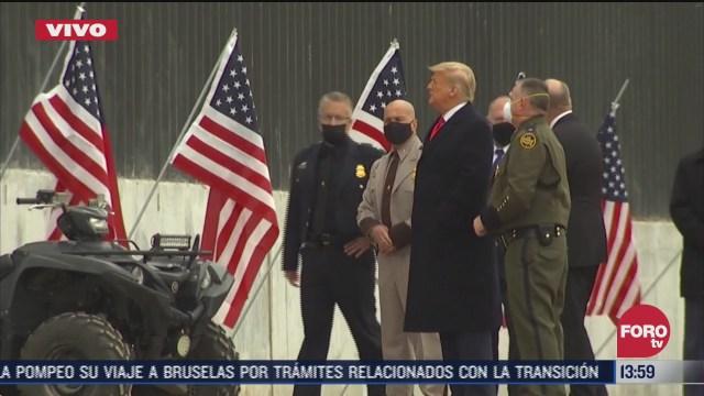 trump llega a texas para visitar el muro fronterizo