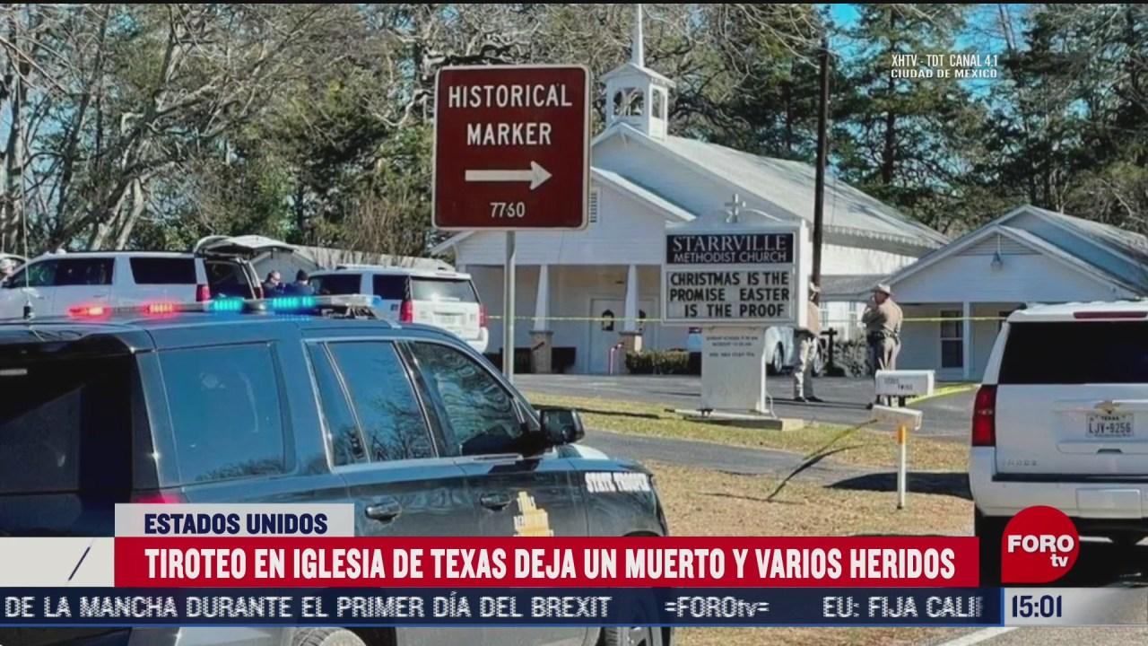 un muerto tras tiroteo en iglesia de texas