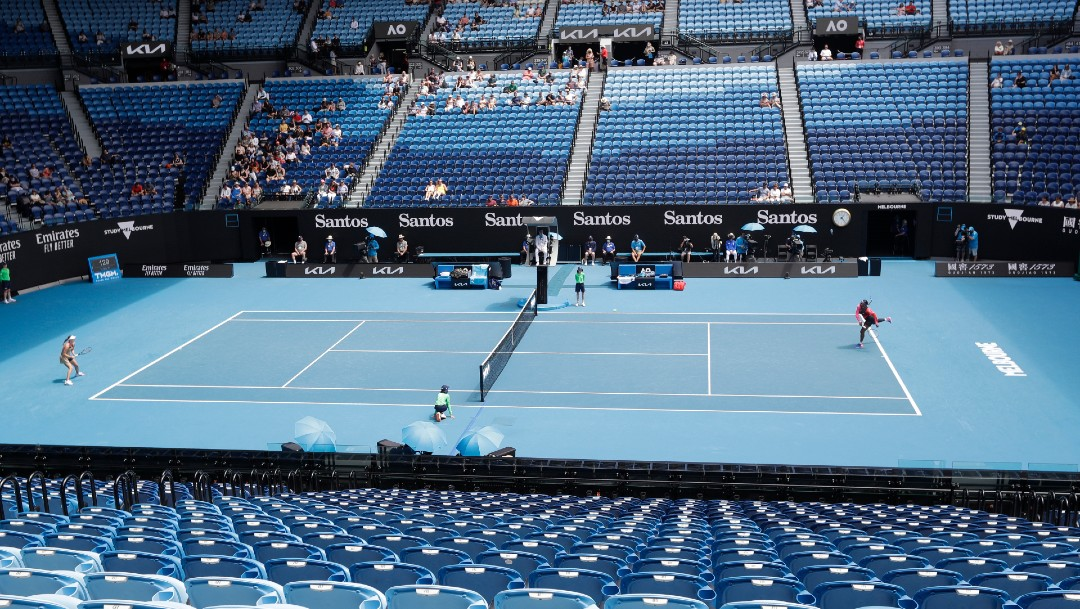 Abierto de Australia autoriza ingreso de 7 mil 500 espectadores a estadio principal