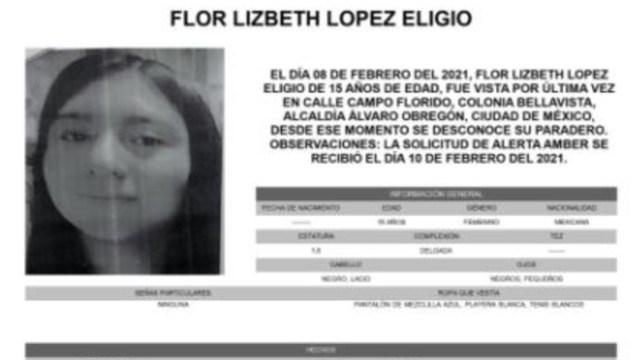 Activan Alerta Amber para localizar a Flor Lizbeth López Eligio
